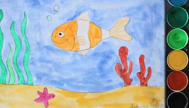 Fisch und Unterwasserwelt malen Anleitung