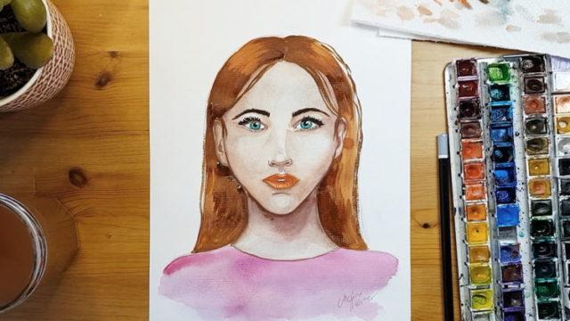 Frauen Gesicht malen Online Videokurs