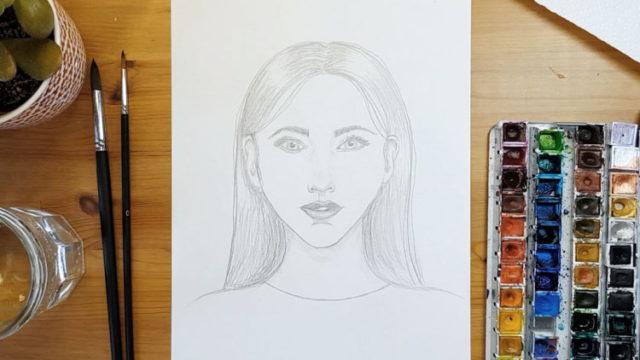 Frauen Portrait zeichnen Online Videokurs