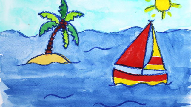 Segelboat malen in Aquarell online Malkurs
