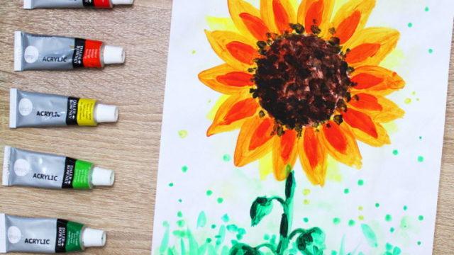 Sonnenblume malen online Videokurs