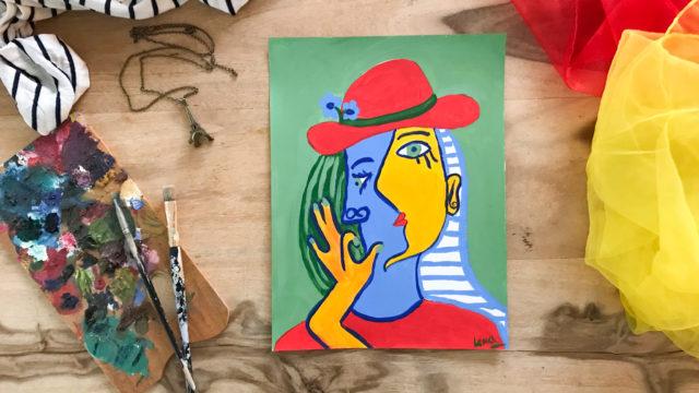 Picasso malen einfach für Kinder
