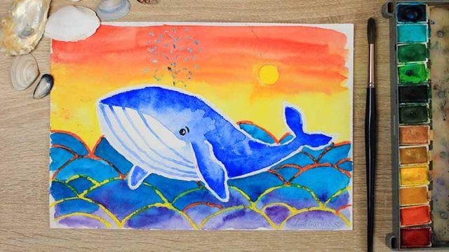 Wal malen online Videokurs für Kinder
