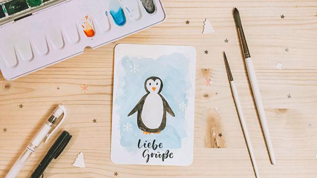 Pinguin malen
