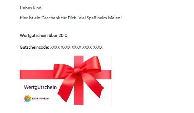 Wertgutschein-per-email